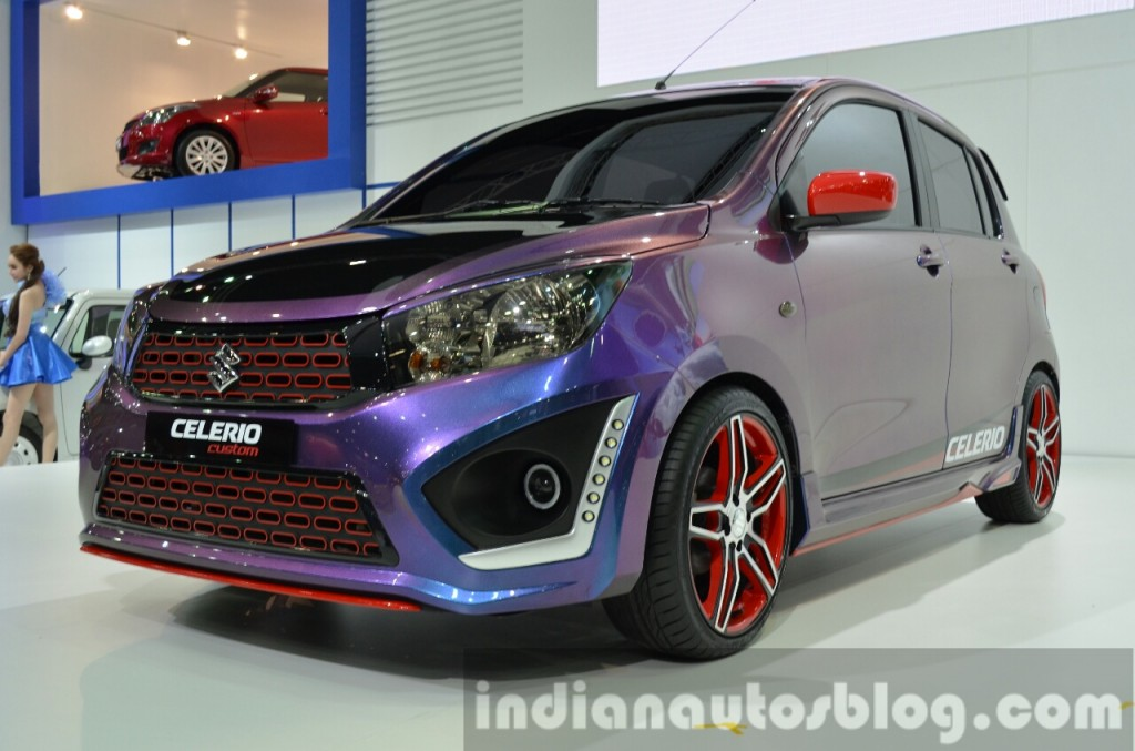Suzuki Celerio Custom front left three quarter at the 2014 Thailand International Motor Expo 1024x677 - Suzuki Celario Modifikasi di Thailand motor show 2014