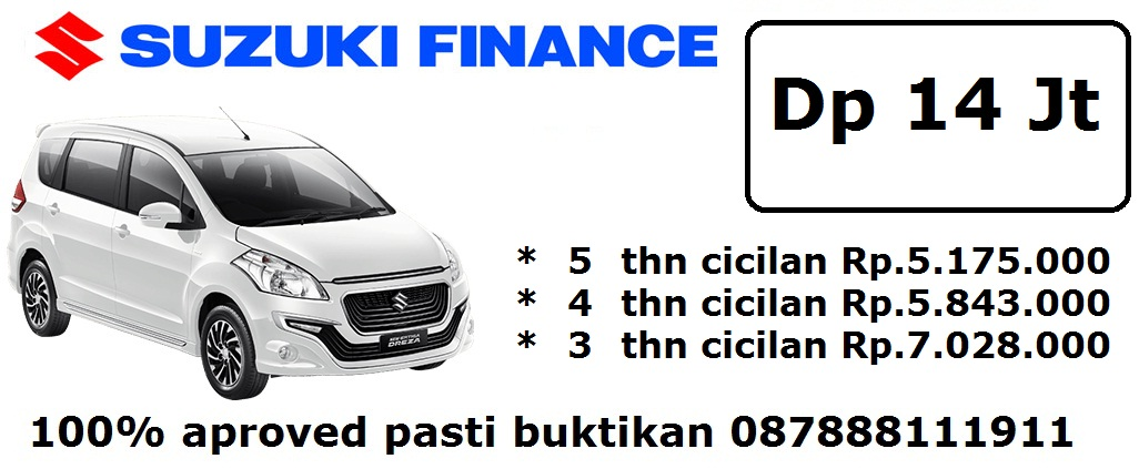 Suzuki finance ertiga dreza manual pasti aproved - Harga kredit Suzuki Promo
