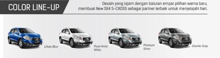 Pilihan warna Suzuki Scross