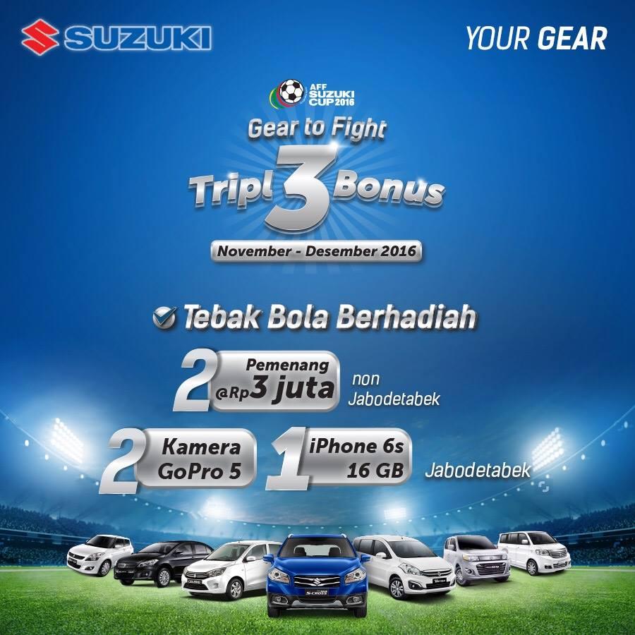 Suzuki Piala AFF - Beli Suzuki Ertiga bonus camera Go Pro atau ke Singapura*