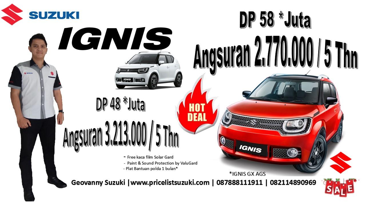 Suzuki ignis GX dp cicilan ringan harga suzuki promo akhir tahun geo - Kredit mobil Suzuki IGNIS sampai 5 tahun