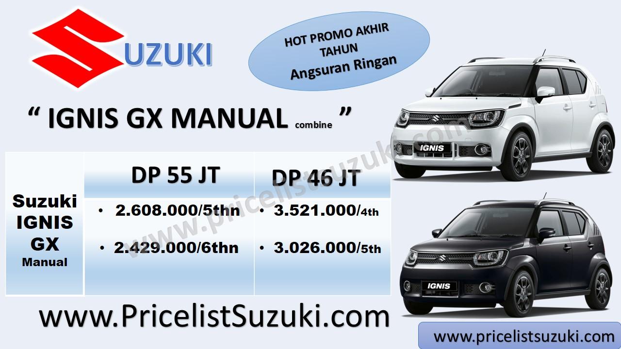 promo suzuki mobil akhir tahun suzuki ignis gx manual cicilan bunga ringan - Kredit mobil Suzuki IGNIS sampai 5 tahun