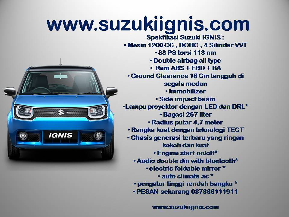 spek suzuki ignis geovanny - Suzuki IGNIS launching tanggal 17 april 2017