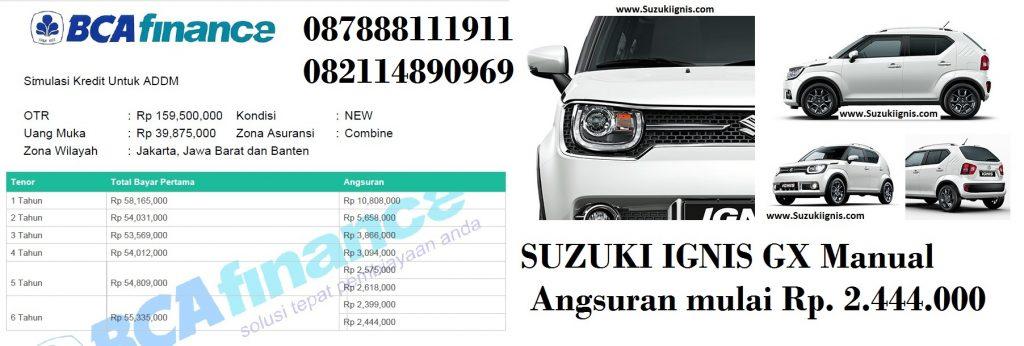 suzuki igns gx manual cicilan 2juta an 1024x346 - Promo Suzuki IGNIS Angsuran 2 Juta an atau Dp Ringan