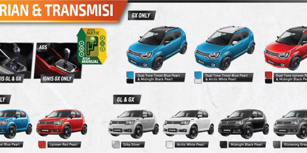"""warna suzuki ignis 1050x525 - Info Suzuki IGNIS """" The Urban SUV """" yang irit bensin"""