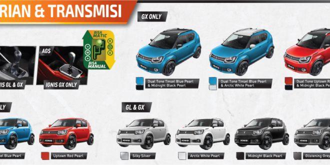 """warna suzuki ignis 660x330 - Info Suzuki IGNIS """" The Urban SUV """" yang irit bensin"""