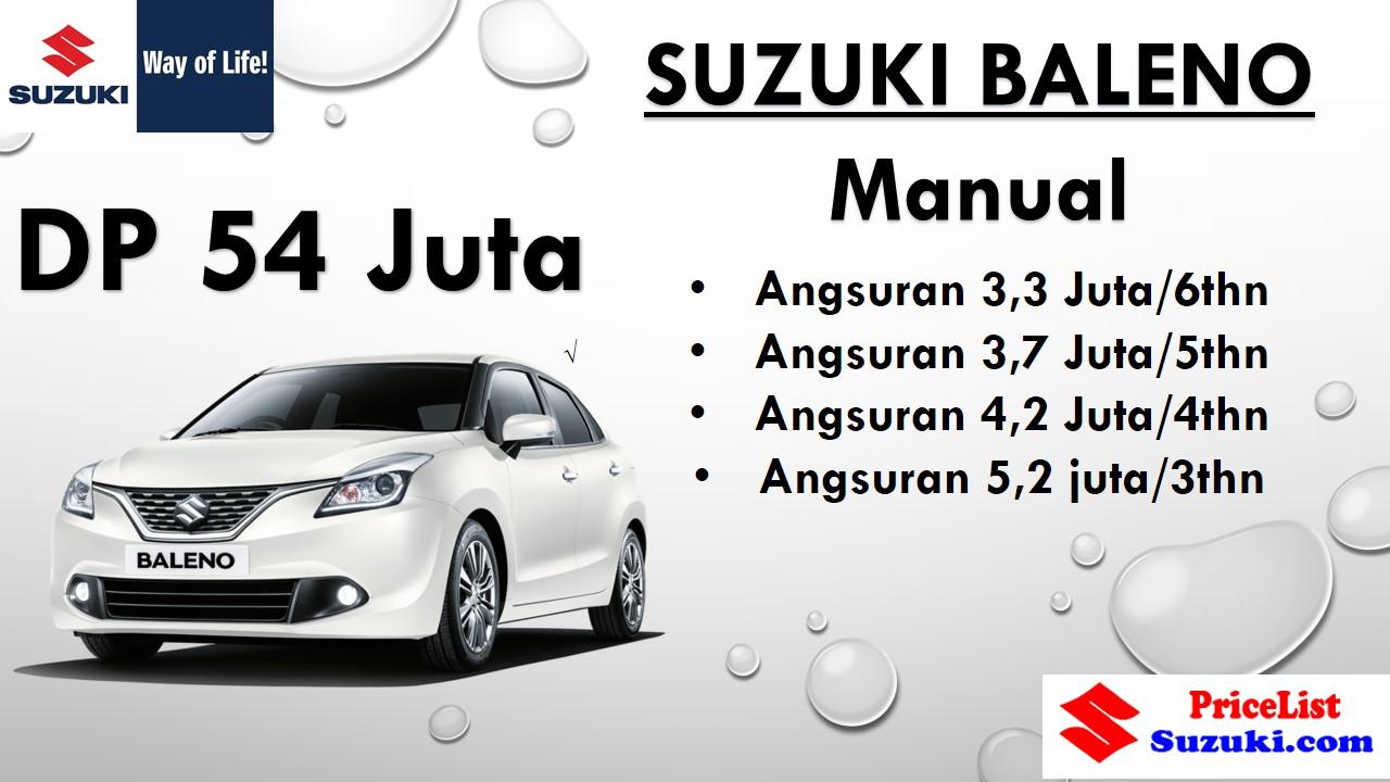 Paket Kredit Suzuki Baleno Manual angsuran ringan - Harga kredit Suzuki Promo