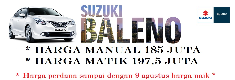harga suzuki new baleno 2017 geovanny sales 1 - Pricelist Suzuki Baleno harga spesial terbatas