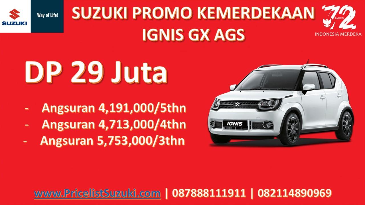 Suzuki Promo Kemerdekaan IGNIS AGS - Suzuki Promo Kemerdekaan Dp Ringan