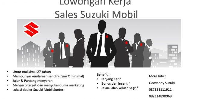 Syarat Sales Mobil Suzuki Lowongan Kerja  660x330 - Lowongan Pekerjaan Sales Mobil Suzuki Di Jakarta Utara