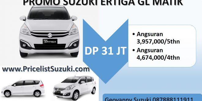 31 juta ertiga gl matik dp promo murah 660x330 - Promo Kredit Suzuki Ertiga GL MT & AT