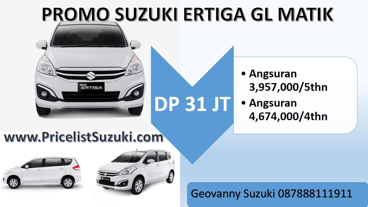 31 juta ertiga gl matik dp promo murah - Promo Kredit Suzuki Ertiga GL MT & AT