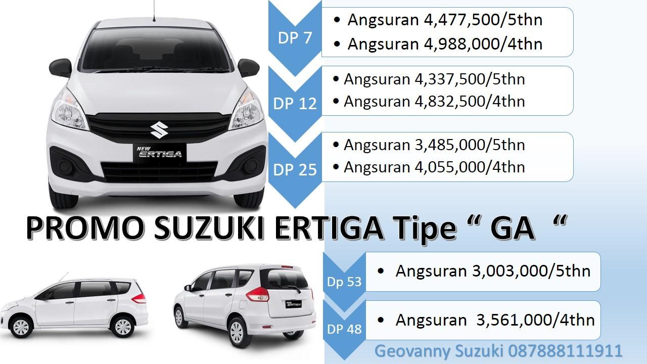 Promo Dp Murah Ertiga Ga Standart cicilan ringan - Jual Suzuki Ertiga Dengan Harga Promo Terbaik