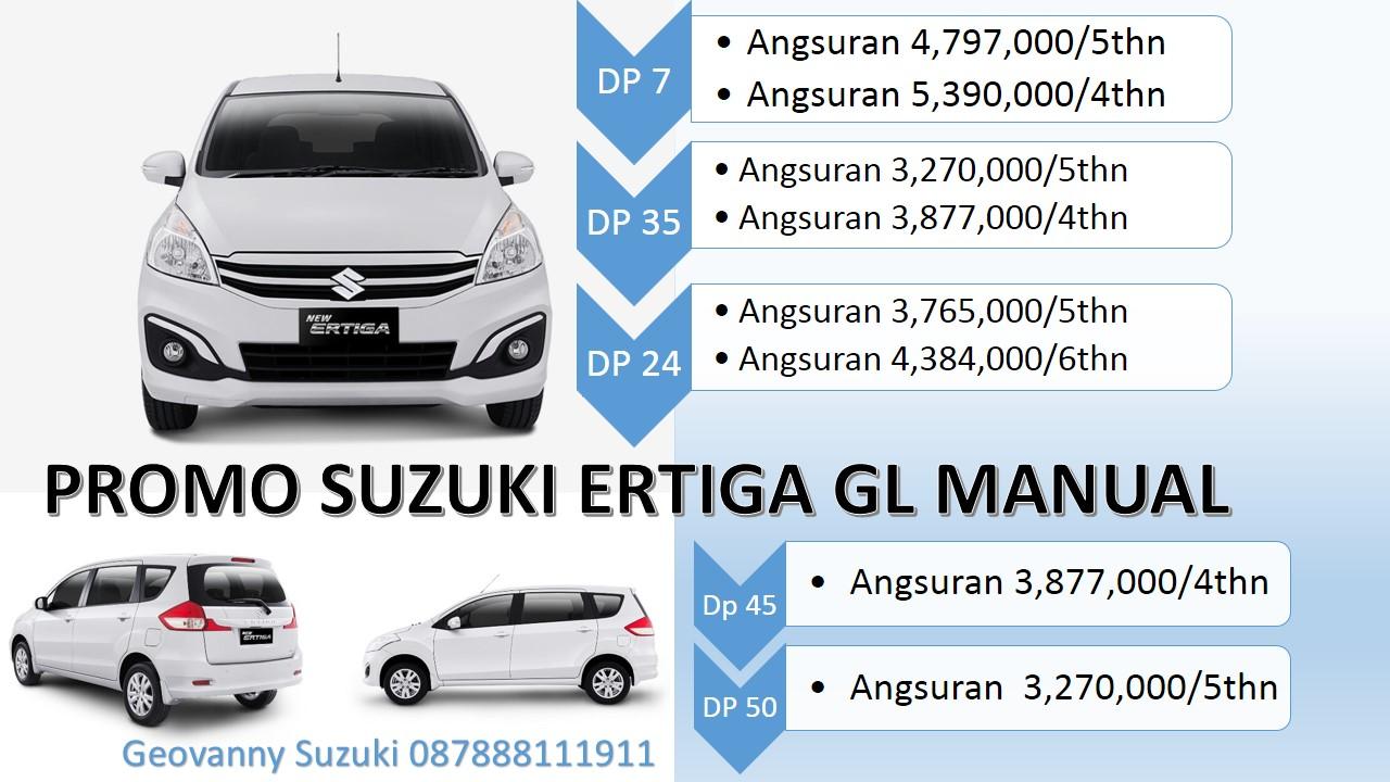 Promo Suzuki Ertiga GL Manual mobil murah di kredit - Jual Suzuki Ertiga Dengan Harga Promo Terbaik