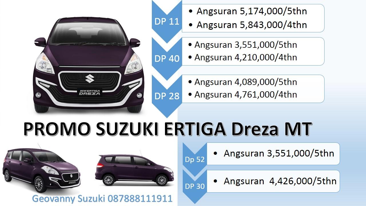 Suzuki Ertiga Dreza Dp ringan cicilan ringan tipe Manual MT - Jual Suzuki Ertiga Dengan Harga Promo Terbaik