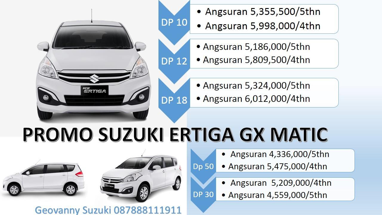 Suzuki Ertiga Matik Promo Dp Ringan Cicilan Ringan - Jual Suzuki Ertiga Dengan Harga Promo Terbaik