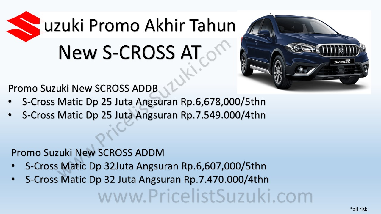 Promo Suzuki New Scross AT pricelistsuzuki - Harga Kredit Promo Suzuki S-Cross Indonesia