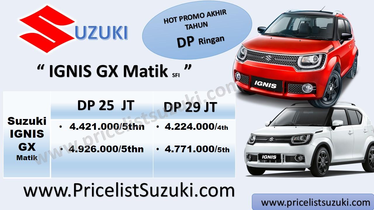 SFI Promo Suzuki IGNIS DP ringan merah hitam - Kredit mobil Suzuki IGNIS sampai 5 tahun