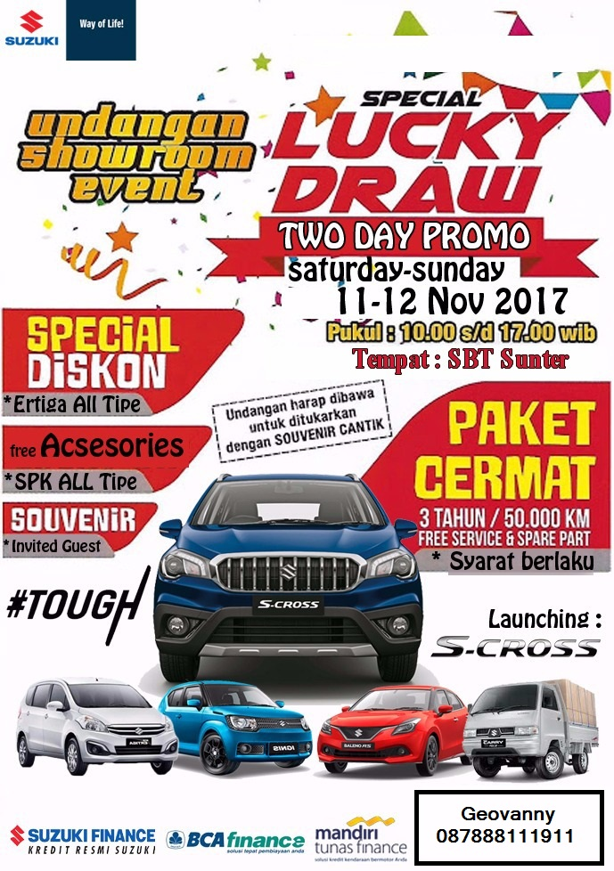 brosur showroom event 1 - Promo Suzuki Mobil Showroom Event
