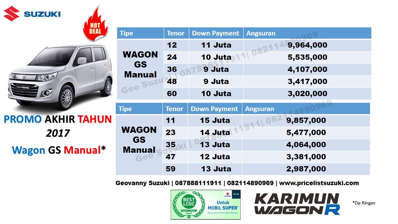 harga suzuki karimun wagon r gs dp ringan akhir tahun 2017