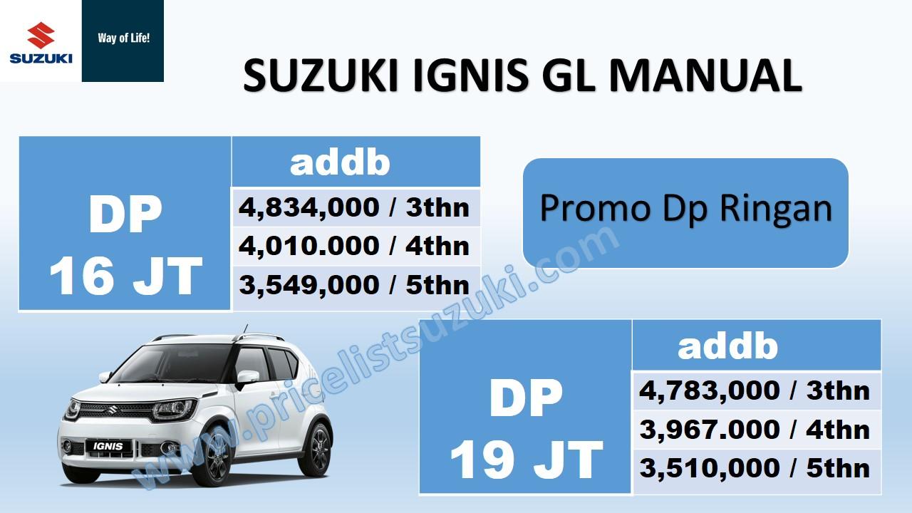 promo suzuki ignis gl manual dp ringan pricelist suzuki geovanny - Harga kredit Suzuki Promo