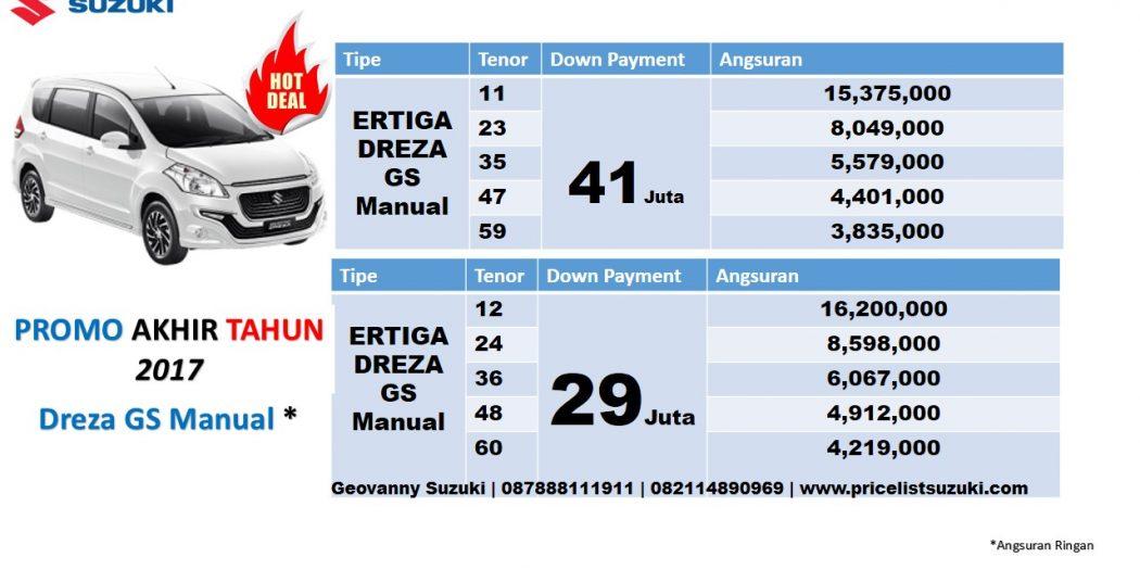 ertiga dreza gs manual angsuran ringan 1050x525 - Harga Suzuki Ertiga Dreza Manual Promo Desember 2017