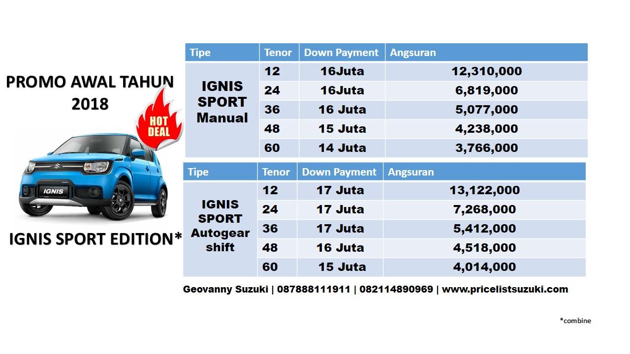 promo suzuki ignis sport dp ringan geo - Harga Kredit Suzuki IGNIS Sport Edition