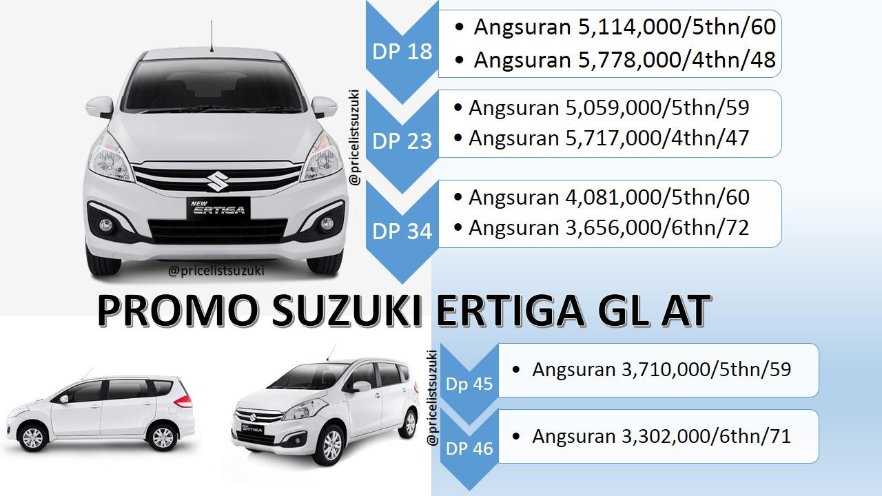 Harga Kredit Suzuki Ertiga GL Otomatis tahun 2018 Angsuran dan cicilan nya - Harga Suzuki Ertiga GL Otomatis Tahun 2018 Promo Kredit