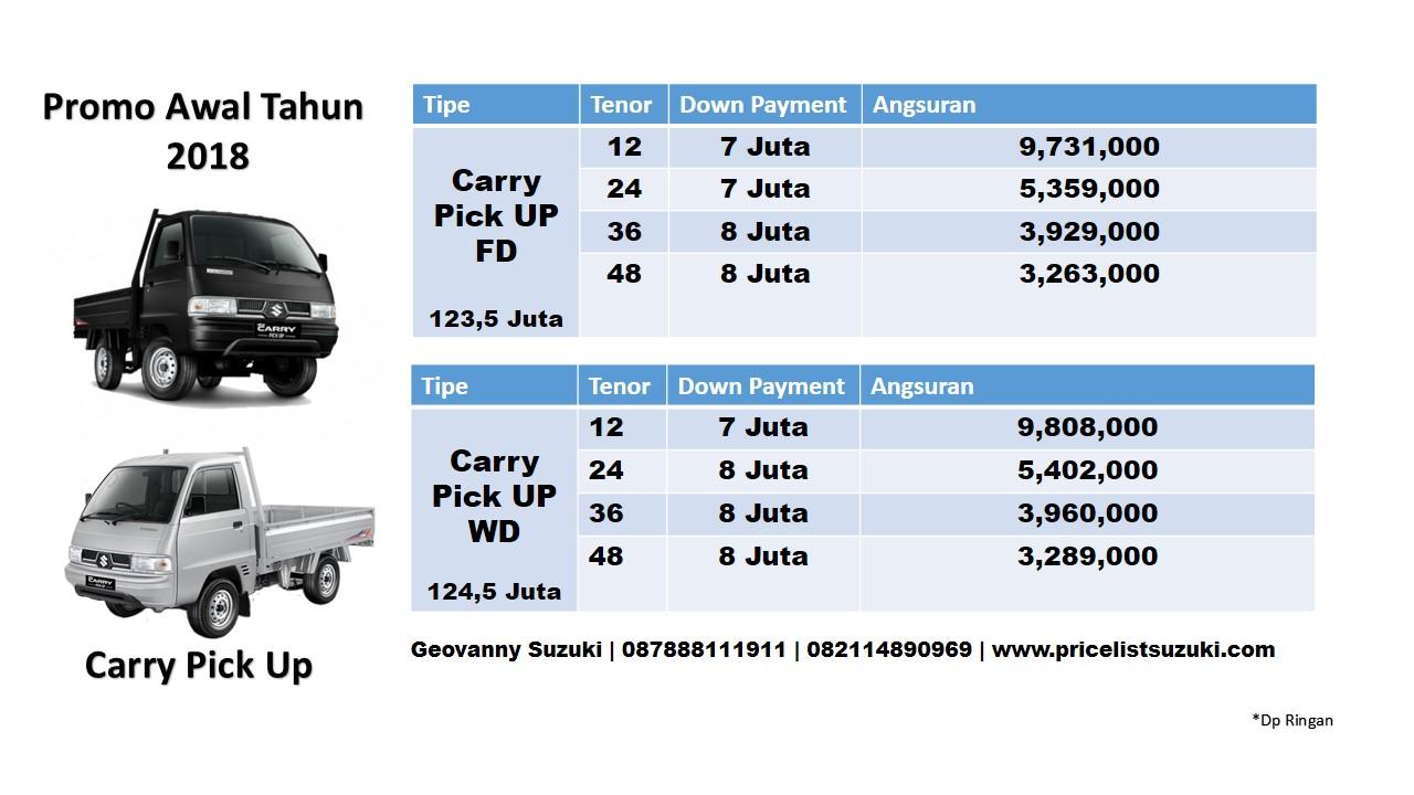 Pricelist Suzuki Pick Up 2018 Promo Dp Ringan - Pricelist Suzuki Mobil Febuari 2018