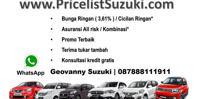 Suku Bunga 361 BCa finance 660x330 - Pricelist Suzuki Mobil Febuari 2018