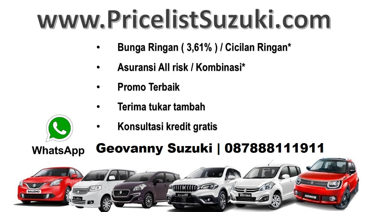 Suku Bunga 361 BCa finance - Pricelist Suzuki Mobil Febuari 2018