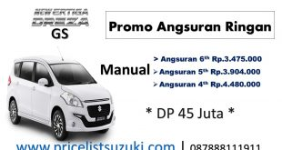 Harga Ertiga Dreza GS Manual Angsuran Ringan 2018 1 310x165 - Harga Kredit Mobil Termurah 2018