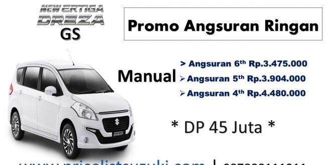 Harga Ertiga Dreza GS Manual Angsuran Ringan 2018 1 660x330 - Harga Kredit Mobil Termurah 2018