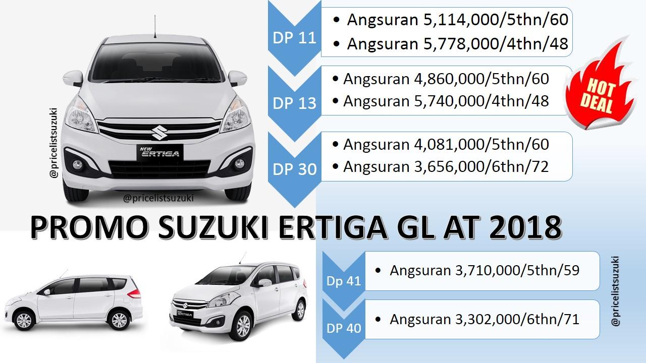 Harga Suzuki Ertiga GL At 2199 Geovanny Suzuki 2018 - Harga Suzuki Ertiga GL Otomatis Tahun 2018 Promo Kredit