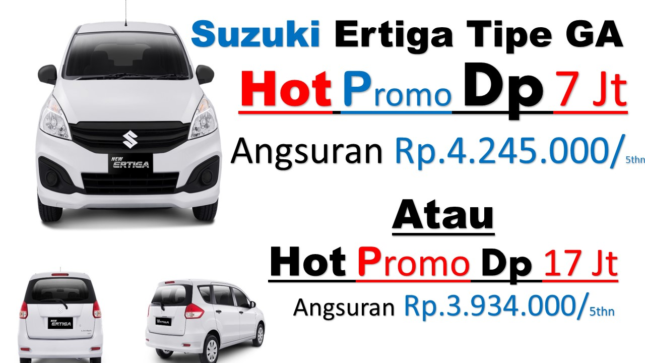 Harga Suzuki Promo Ertiga GA 2018 Dp Ringan Geovanny 087888111911 - Harga Suzuki Ertiga Tipe Ga Rp.190 Juta