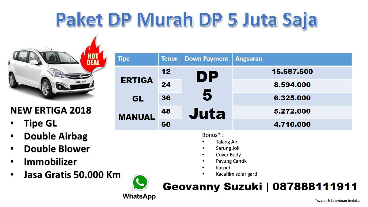 Promo Ertiga Dp 5 Juta Suzuki Ertiga GL Manual 2018 Geo Murah - Kredit Suzuki Ertiga GL Otomatis Dp ringan Cicilan Ringan