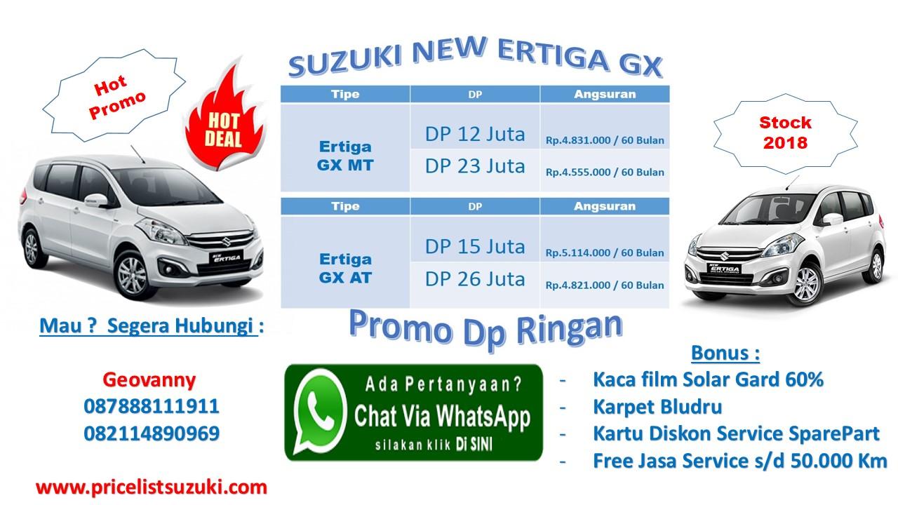 Suzuki Ertiga GX Series Hot Deal Best Promo Dp Ringan Geovanny 2018 - Harga Kredit Mobil Termurah 2018