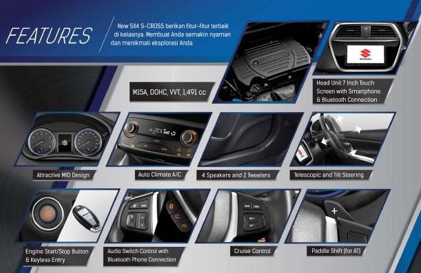 fitur Suzuki Sx4 S-Cross 2018