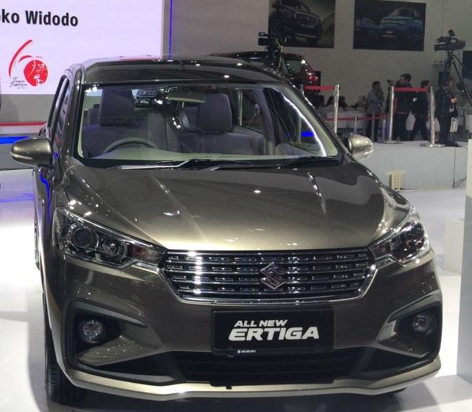 magma grey ertiga all new tampak depan mobil sendiri