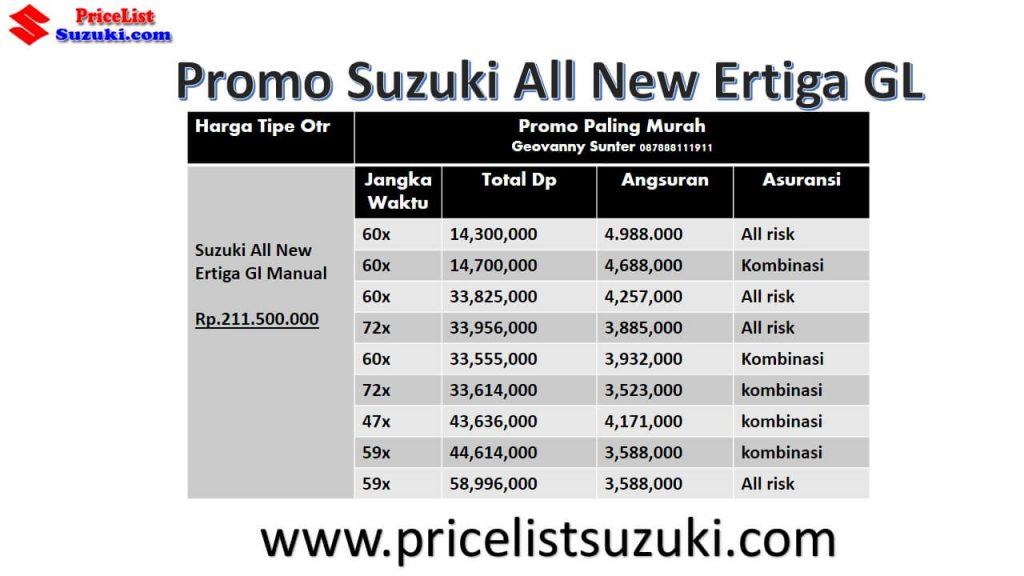 Kredit Suzuki ertiga gl manual promo harga kredit all new ertiga paling murah