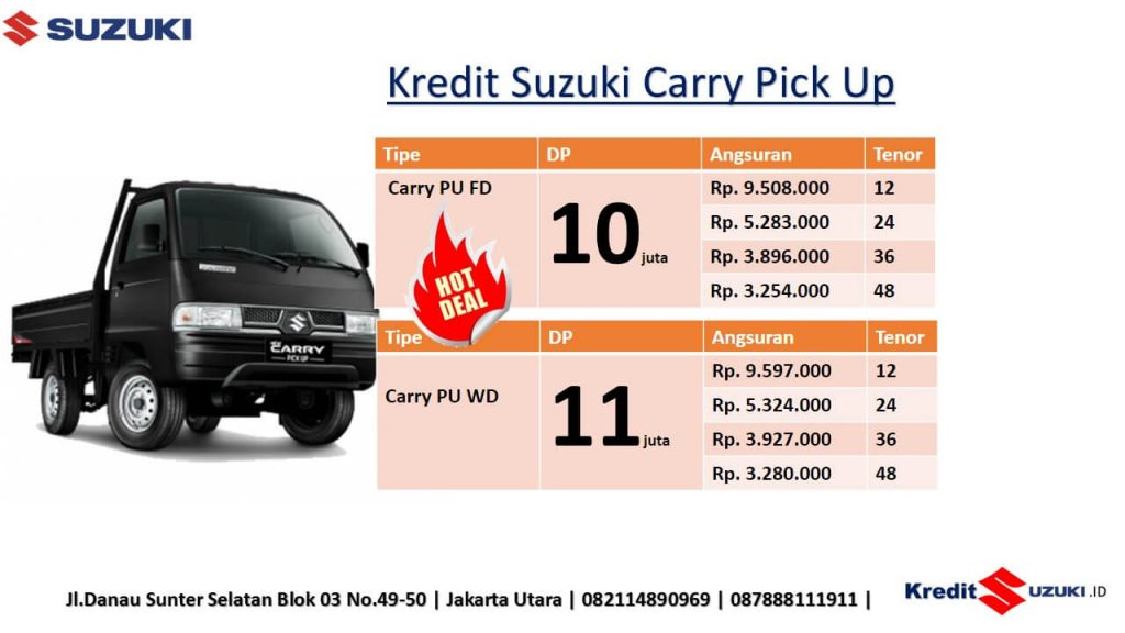 kredit Suzuki Carry Pick Up Dp Ringan Murah