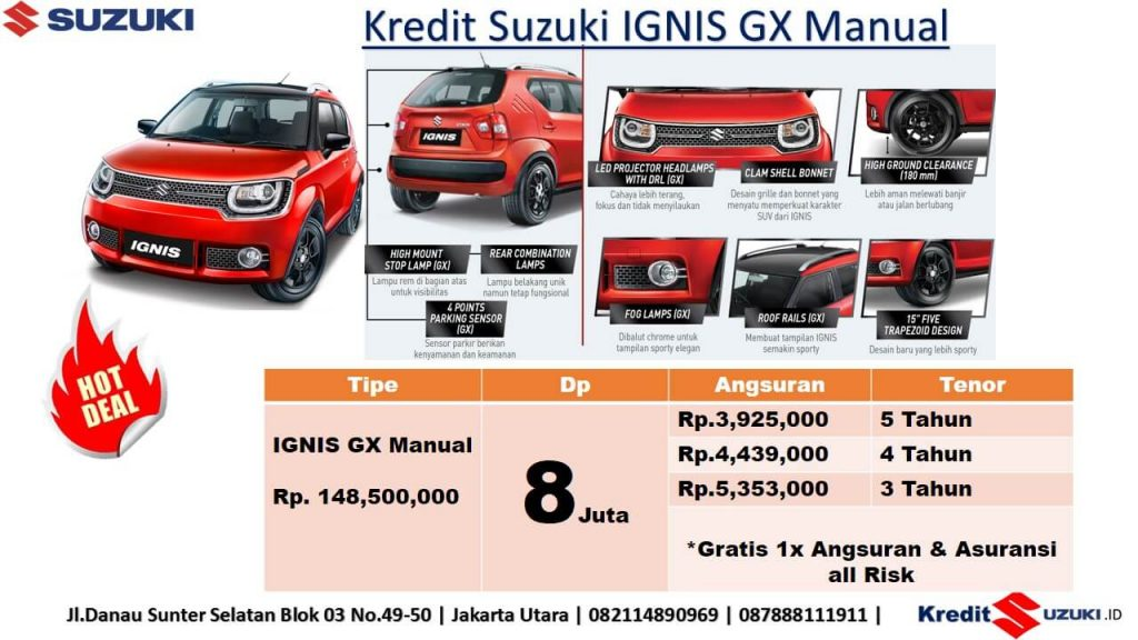 Kredit Suzuki Ignis Manual Dp 8 Juta Murah Imfi November 2018