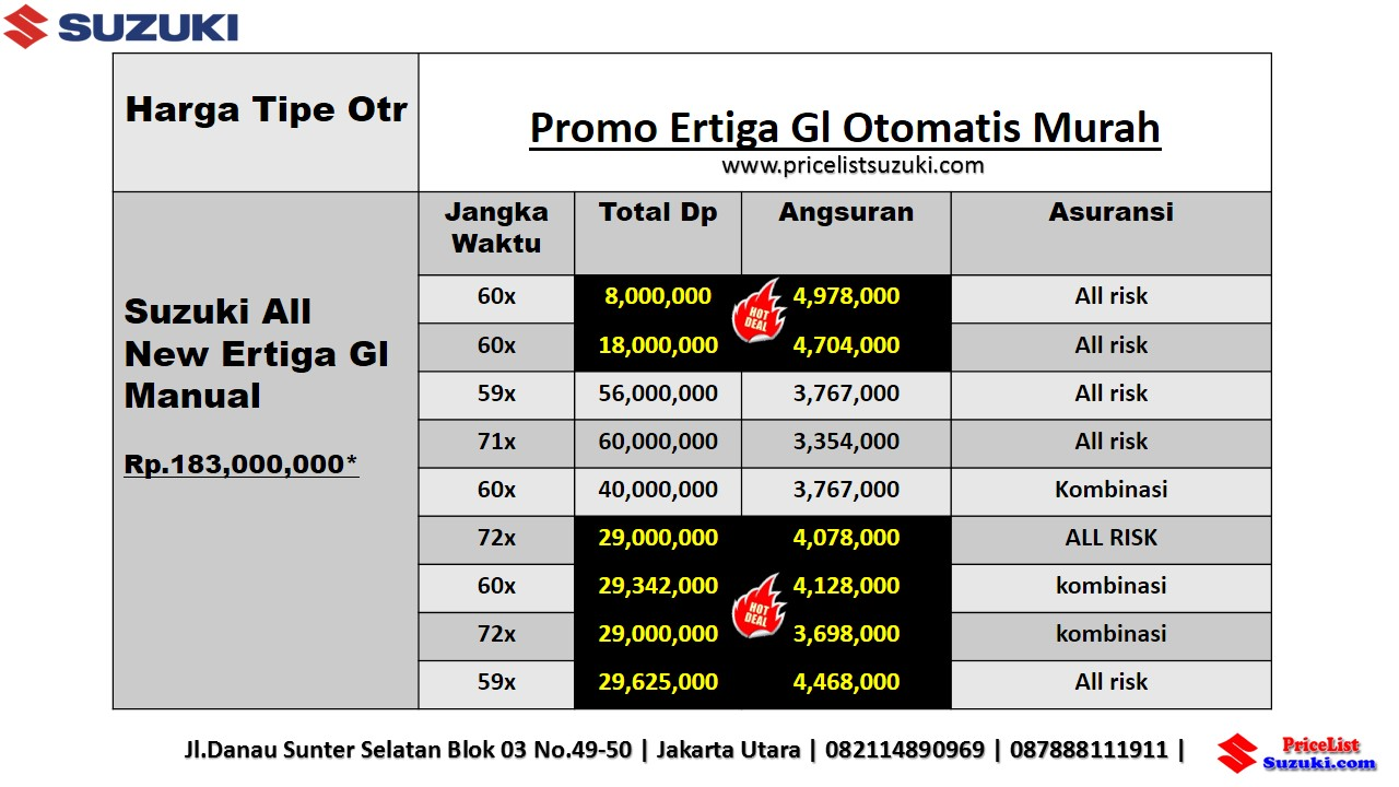 Promo Kredit Suzuki Ertiga GL Otomatis november 2018 sales Geovanny Murah - Harga Suzuki Promo Bulan November 2018