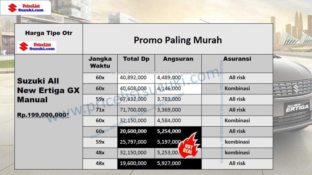 Promo Suzuki Ertiga GX Manual 2018 Angsuran Ringan