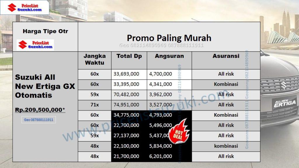 Promo Suzuki Ertiga GX Matik 2018 tipe All New Murah untuk web GEO