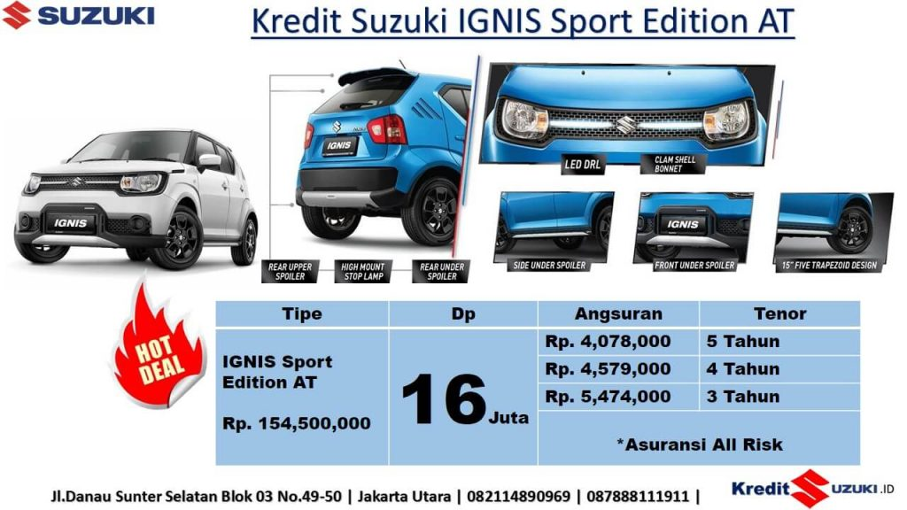 Harga Suzuki Ignis Sport Edition November 2018
