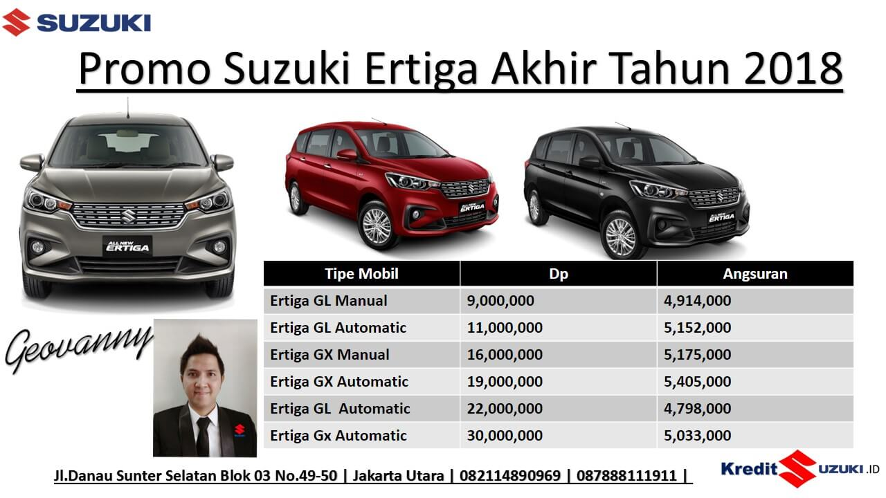 Promo Suzuki Ertiga GL GX Manual Matik Promo akhir tahun 2018