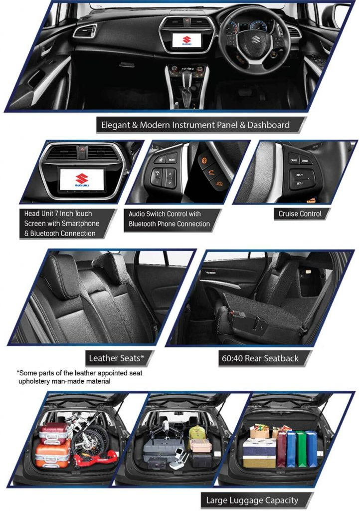 Fitur Interior Suzuki Scross 2019 724x1024 - Pricelist Suzuki S Cross Sx4 2019