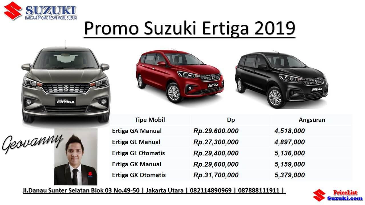 Promo Kredit Suzuki Ertiga 2019 pricelist Suzuki dot com