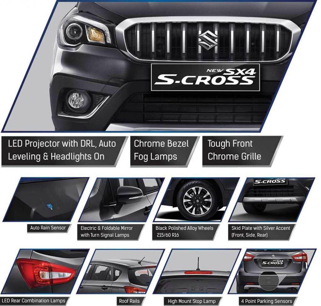 fitur Suzuki S cross 2019 exterior 1024x978 - Pricelist Suzuki S Cross Sx4 2019